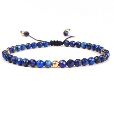 damen armband lapis naturstein blau gold 3