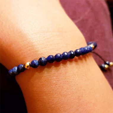 damen armband lapis naturstein blau gold 5