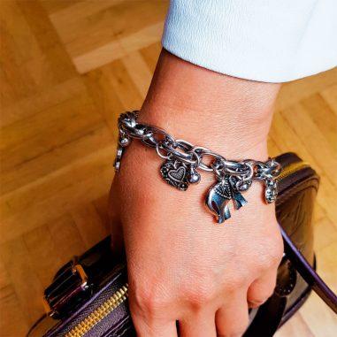 elefanten armband charm frauen silber3