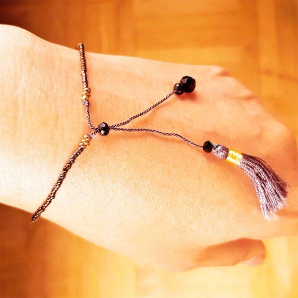rocailles armband dünn sommer weiß schwarz