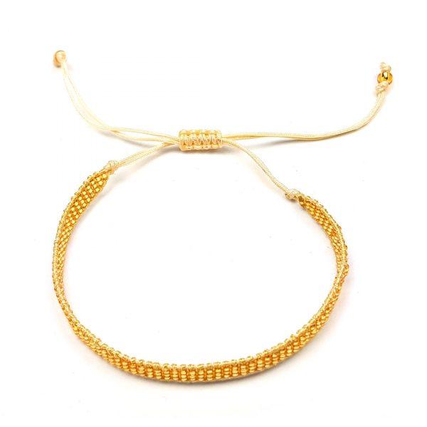 gold rocailles perlen armband