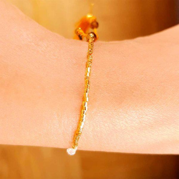 sommer-rocailles-armband-frauen-orange-gold-3