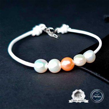 perlen-armband-leder-silber-weiss-1