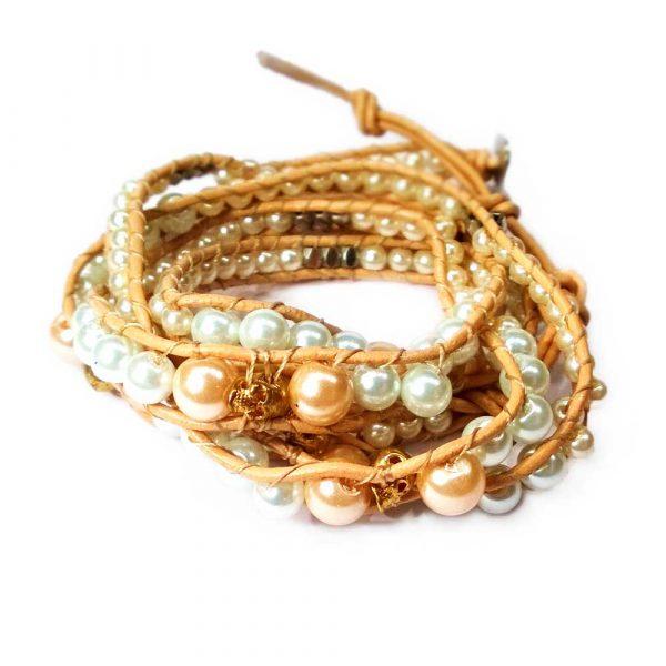 perlen totenkopf armband