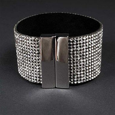 zirkonia armband breit glitzer glamour