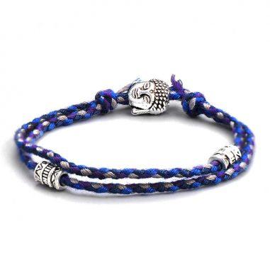 buddha freundschaft schutz armband blau-bunt