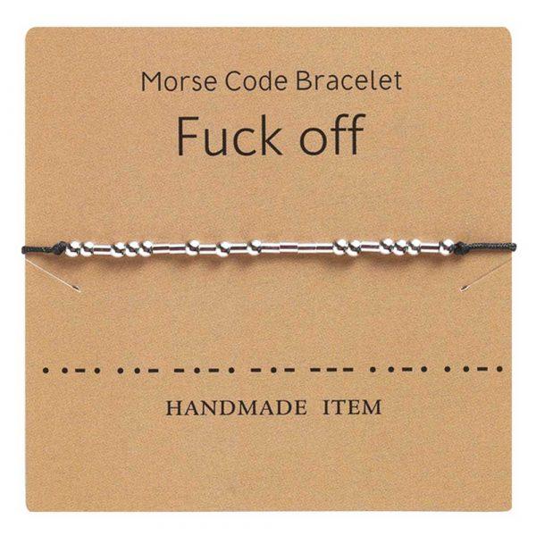 morsezeichen armband fuck off