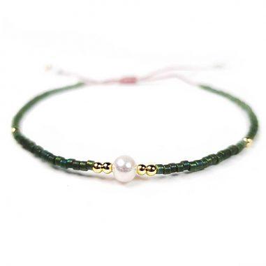 rocailles miyuki gold gruen-perle echt zart armband top