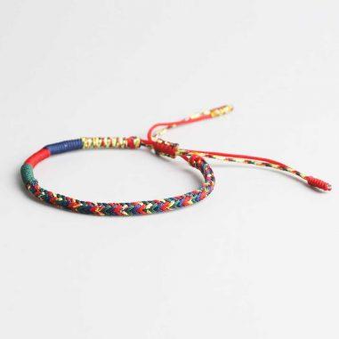 buddha tibet armband bunt