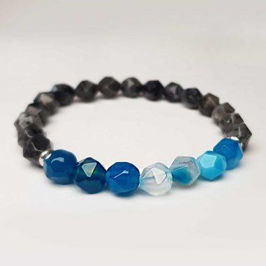 achat armband facettiert quarz schwarz blau