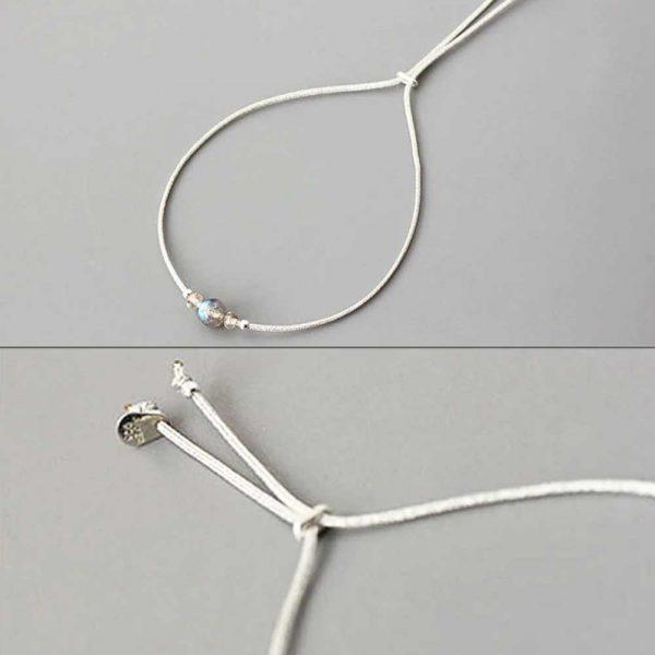 zartes mondstein armband 925 silber