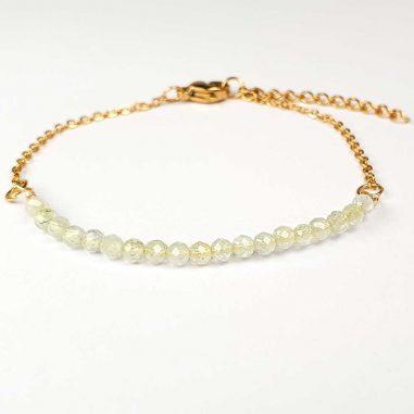 peridot armband gold edelstahl chrysolith olivin