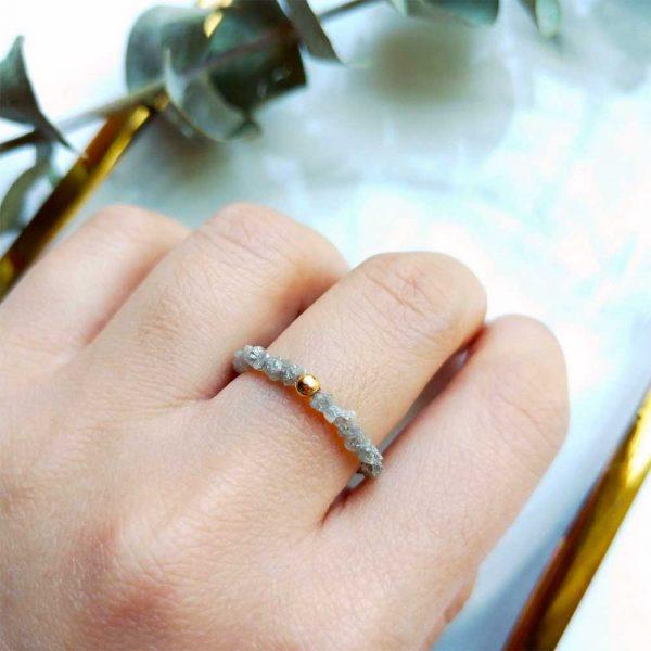 rohdiamant ring gold