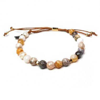 achat naturstein armband goldelemente