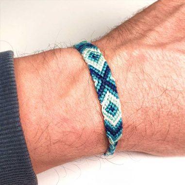 freundschaftsarmband stoff blau weiss