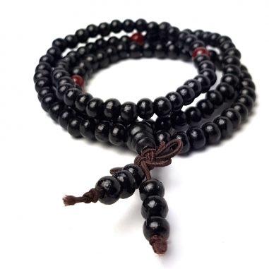 mala buddha armband sandelholzperlen