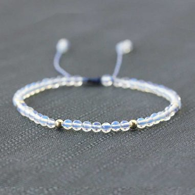 armband natuerliche weisse opal perlen handarbeit