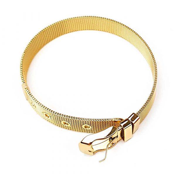 mesh armband gold edelstahl