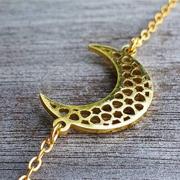 halbmond armband gold