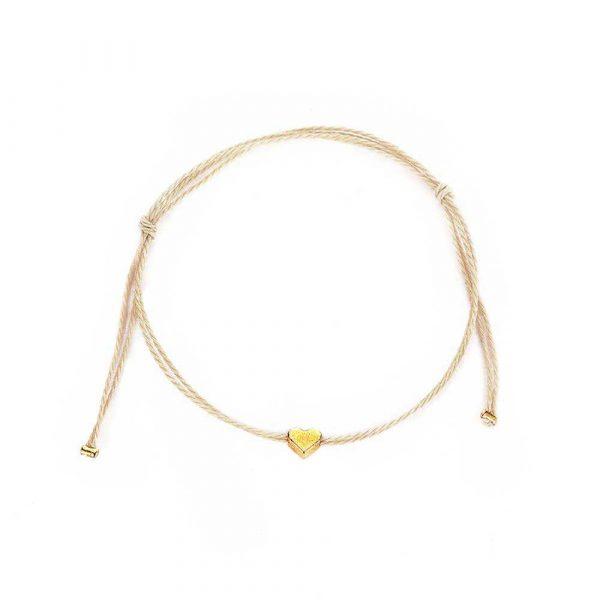 zartes mini herz armband gold