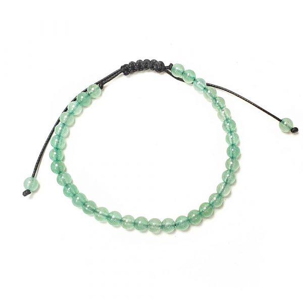 aventurin perlen armband naturstein gruen